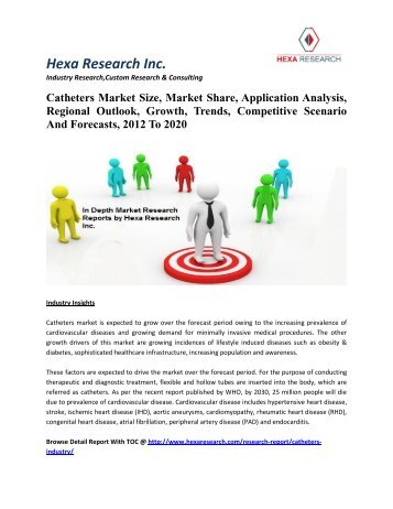 Catheters Market Size, Market Share, Application Analysis, Regional Outlook, Growth, Trends, Competitive Scenario And Forecasts, 2012 To 2020
