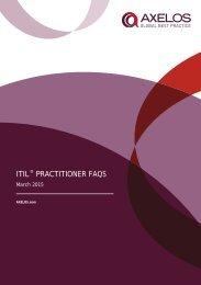 ITIL PRACTITIONER FAQS