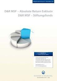 D&R MSF – Absolute Return Exklusiv D&R MSF ... - Hansainvest