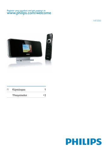 Philips Streamium Network Music Player - Istruzioni per l'uso - FIN