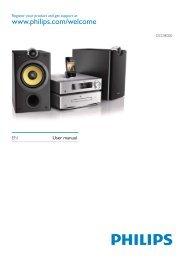 Philips Harmony Sistema Hi-Fi Component DVD - Istruzioni per l'uso - AEN