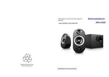 Philips Altoparlanti multimediali 2.1 - Istruzioni per l'uso - EST