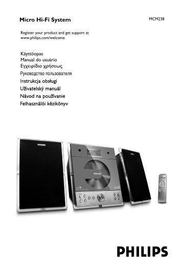 Philips Sistema micro Hi-Fi - Istruzioni per l'uso - CES