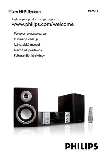 Philips Sistema micro Hi-Fi - Istruzioni per l'uso - RUS