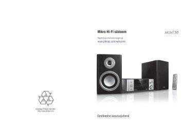 Philips Sistema micro Hi-Fi - Istruzioni per l'uso - EST