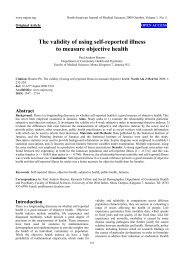 The validity of using self-reported illness to measure objective health