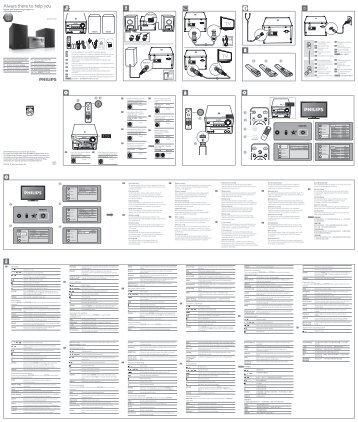 Philips Sistema musicale micro con DVD - Guida rapida - NOR