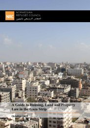 Guide to Housing Land and Property Law in the Gaza Strip Law in the Gaza Strip