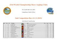 23rd World Championship Shore Angling Clubs 2nd Competition Day (11.11.2015)