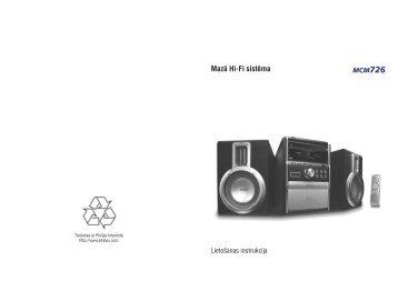 Philips Sistema micro Hi-Fi - Istruzioni per l'uso - LAV