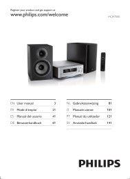 Philips Harmony Sistema micro Hi-Fi Component - Istruzioni per l'uso - ENG