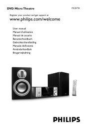Philips Sistema micro DVD Component - Istruzioni per l'uso - AEN