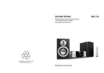 Philips Sistema micro DVD Component - Istruzioni per l'uso - LIT