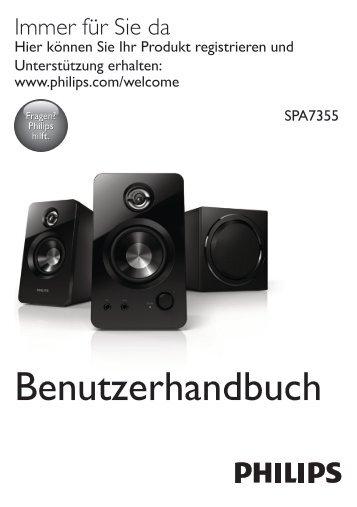 Philips Altoparlanti multimediali 2.1 - Istruzioni per l'uso - DEU