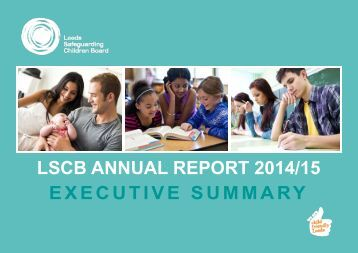 LSCB ANNUAL REPORT 2014/15 EXECUTIVE SUMMARY