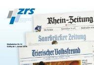 ZRS Kombi - Mediadaten Nr. 14 Gültig ab 1. Januar 2016