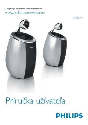 Philips Fidelio Mini altoparlanti SoundSphere - Istruzioni per l'uso - SLK