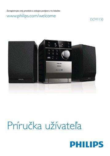 Philips Sistema audio micro classico - Istruzioni per l'uso - SLK