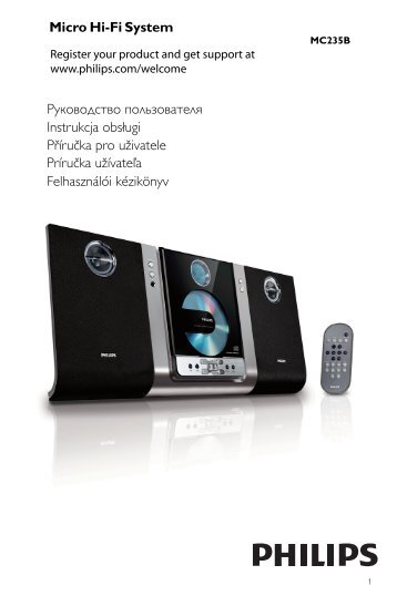Philips Sistema micro Hi-Fi - Istruzioni per l'uso - SLK