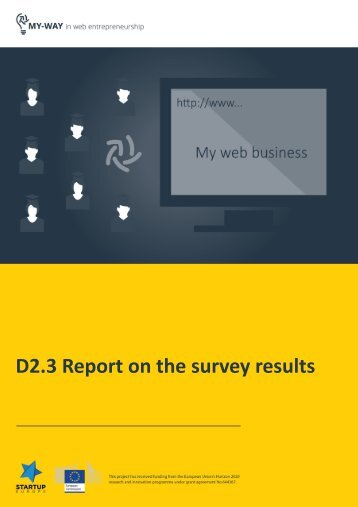 D2.3 Report on the survey results