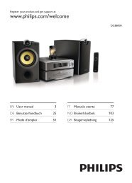 Philips Harmony Sistema Hi-Fi component - Istruzioni per l'uso - ENG