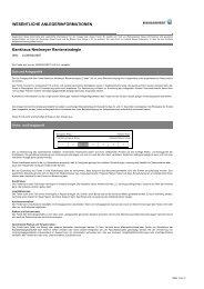 Bankhaus Neelmeyer Rentenstrategie - Hansainvest