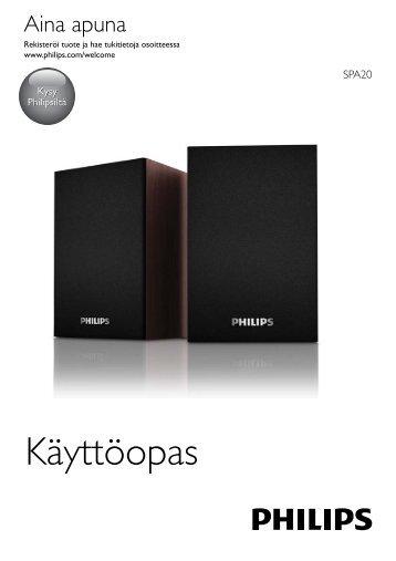 Philips Altoparlanti USB per notebook - Istruzioni per l'uso - FIN