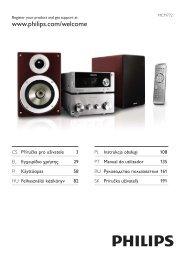 Philips Heritage Audio Sistema Hi-Fi component - Istruzioni per l'uso - ELL