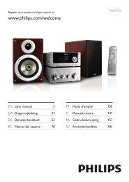 Philips Heritage Audio Sistema Hi-Fi component - Istruzioni per l'uso - AEN