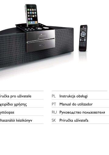 Philips sistema docking per l'intrattenimento - Istruzioni per l'uso - FIN