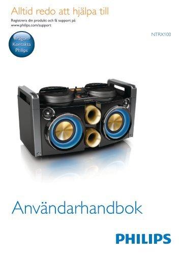 Philips Sistema mini Hi-Fi - Istruzioni per l'uso - SWE