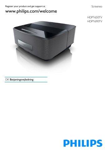 Philips Proiettore a LED Screeneo Smart - Istruzioni per l'uso - DAN