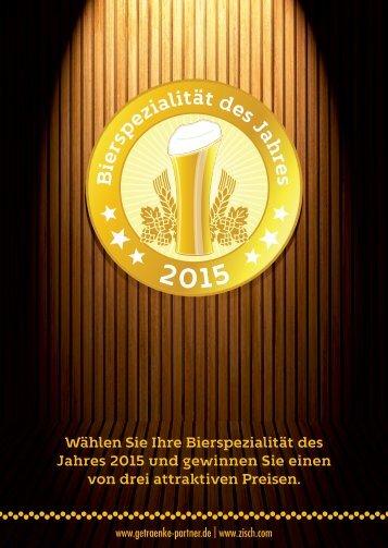 Zisch/GP Bierspezialität des Jahres 2015