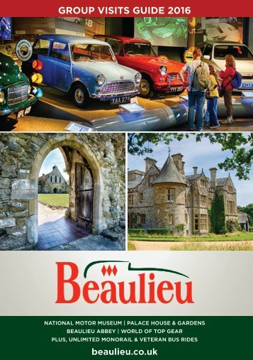 Beaulieu & Buckler's Hard Groups Brochure 2016