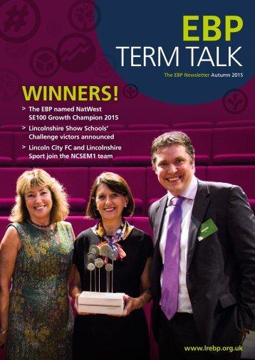The EBP Term Talk Newsletter Autumn 2015
