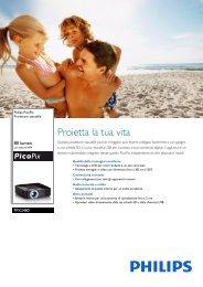 Philips PicoPix Proiettore tascabile - Scheda tecnica - ITA