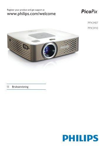 Philips PicoPix Proiettore tascabile - Istruzioni per l'uso - SWE