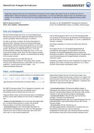 Key Investor Document - D&R TA Deutsche Aktien P - Hansainvest