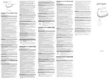 Moulinex PRINCIPIO  HM1010 - Manuale d'Istruzione Magyar (Hungarian)
