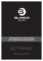 Getränkekarte Blanco Bar