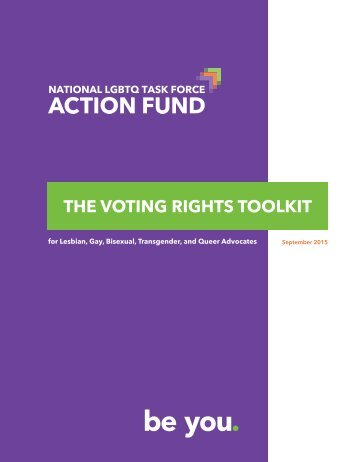 THE VOTING RIGHTS TOOLKIT