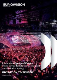 Eurovision Family of Events INVITATION TO TENDER