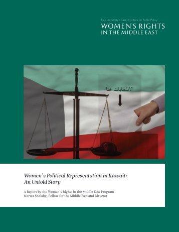 Women's Political Representation in Kuwait An Untold Story