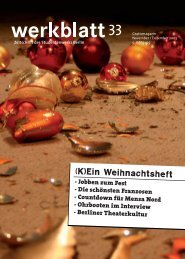 Die Serie des werkblatts: Studienfinanzierung - Studentenwerk Berlin