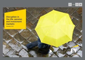 Disruption in the life pension and investment markets