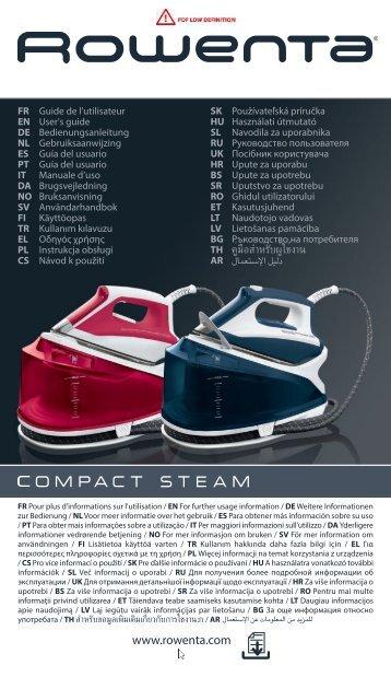 Rowenta COMPACT DG7580 - COMPACT DG7580 Italiano
