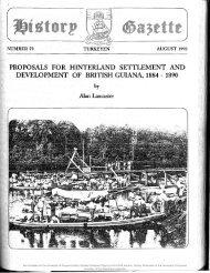 History Gazette # 59:Proposals for Hinterland Settlement and Development