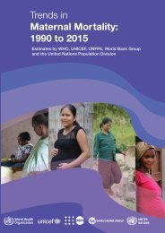 Trends in Maternal Mortality 1990 to 2015