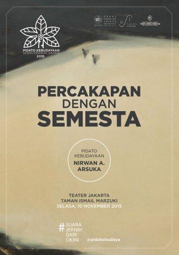 TEATER JAKARTA - TAMAN ISMAIL MARZUKI SELASA 10 NOVEMBER 2015