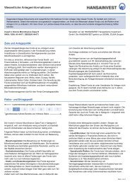 Key Investor Document - Invest in Visions ... - Hansainvest